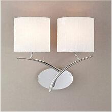 Applique murale Eve avec interrupteur 2 Ampoules