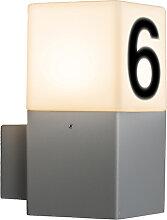Applique murale exterieure moderne gris IP44 avec