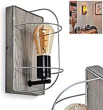 Applique murale Hodne moderne en bois et métal -