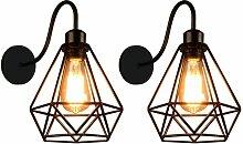 Applique Murale Industrielle, Lot de 2 Lampe