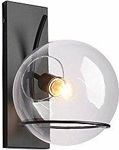 Applique murale LED boule de verre lumière