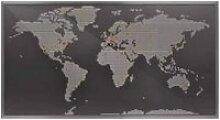 Applique murale LED carte du monde MAP