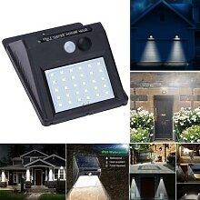 Applique murale LED solaire avec détecteur de