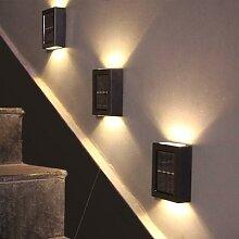 Applique murale LED solaire étanche avec capteur,