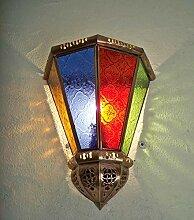 Applique murale marocaine fer et verre multicolore