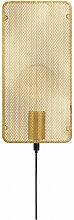 Applique murale MESH dorée 1 ampoule