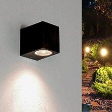 Applique Murale Noire LED Rectangulaire IP44 pour