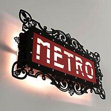 Applique murale Paris Metro - Noir et rouge - 46