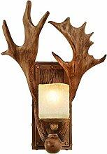 Applique murale retro style industriel bois lampe