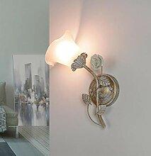 Applique murale romantique style shabby blanc