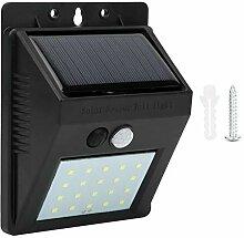 Applique Murale Solaire 20 LED, Capteur PIR +