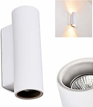 Applique Nuovodi Up & Down cylindrique blanche -