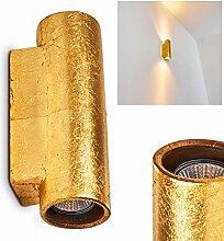Applique Nuovodi Up & Down cylindrique dorée -