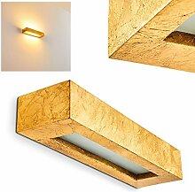 Applique Paglia en céramique dorée, luminaire