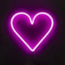 Applique rose avec télécommande avec LED - Coeur