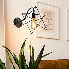 Appliques Murale Cage Métal E27 Lampe Industriel