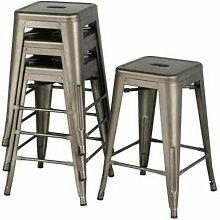 AQRAU - 4 pièces de 61 * 40 * 40cm chaise haute