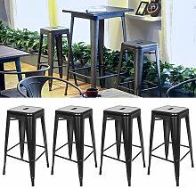 AQRAU - Chaise haute de bar empilable 8 pièces