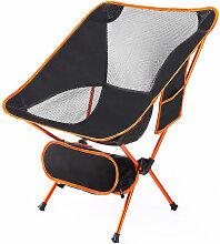 Aqrau - Fauteuil de camping pliant orange - orange