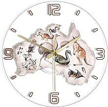 AquarelleAnimaux Exclusif Horloge Murale