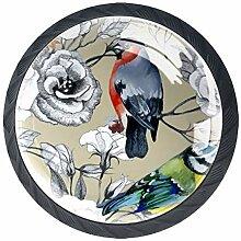 Aquarelle Coucou Oiseau Rhododendron Fleur 4
