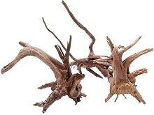 Aquarium en bois flotté, 1 pièce, arbre naturel,