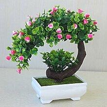 Arbre à bonsaï en pot carré - Décoration de