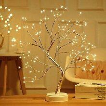 Arbre à fleurs en bonsaï, lampe d'intérieur