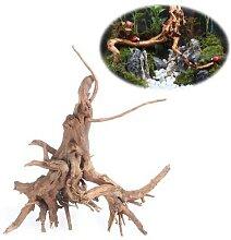 Arbre en bois naturel pour Aquarium, 1 pièce,