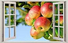 Arbre fruitier Nature 3D Fenêtre Decal Sticker