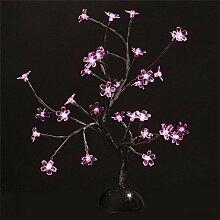 Arbre lumineux 32 led fleurs Rose à piles