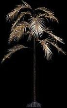 Arbre palmier 90 cm or lumineux sur pied 90 LED