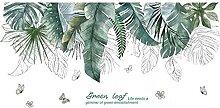 Arbre Tropical Feuilles Stickers Muraux Diy Plante