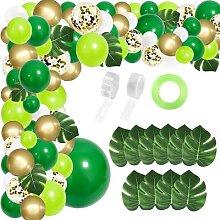 Arc de ballons pour fête dans la Jungle, 134