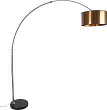 Arc lampe abat-jour en acier cuivre 50 cm - XXL