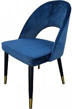 ARDEC - Chaise de salle a manger en velours bleu