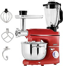 Arebos Robot cuisine multifonction 1500W | Rouge |