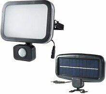 AREV Projecteur solaire noir 8W LED 500 lumens
