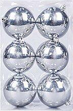 Argent 3-12cm Boule De Noel Décoration Sapin