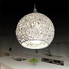 Argent Pendaison Droplight Moderne Globe Lampe