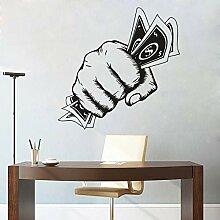 Argent premier mur Art décalcomanie bureau décor