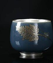 Argent Sterling 999 Tasse En Céramique Yiye