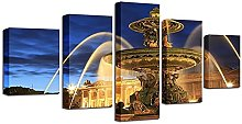ARIE 5 Pieces HD Print Fontaine Plaza Impressions
