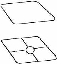 Armature Abat-Jour carré 35 cm Jeu de 2 - Graine c