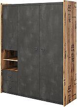 Armoire 3 portes FARGO chambre ado Graphite