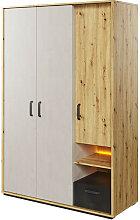 Armoire 3 portes QUBIC chambre ado - Chêne