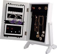 Armoire à bijoux sur pied avec miroir accesoires