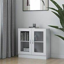Armoire à vitrine Blanc 82,5x30,5x80 cm