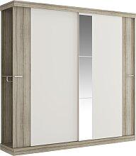 Armoire ADALRIK - 2 portes coulissantes - Avec