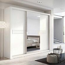 Armoire coulissante blanche 3 portes IDEA-11 avec